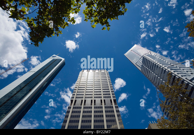 Australia, Western Australia, Perth.  City highrises. - Stock Image