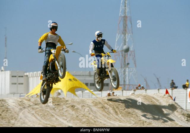 Dubai UAE Motor Bike Scrambling - Stock Image