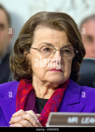 Washington, Us. 22nd Mar, 2017. United States Senator Dianne Feinstein (Democrat of California), Ranking Member, - Stock Image