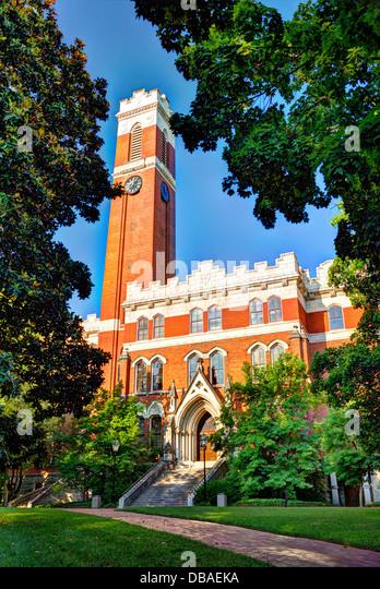 Campus of Vanderbilt Unversity in Nashville, Tennessee. - Stock Image