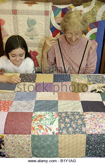 Arkansas Ozark Mountains Ozark Mountains Mountain View Ozark Folk Center State Park Country Kitchen quilting shop - Stock Image