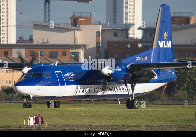 VLM Airlines Fokker 50 - Stock Image