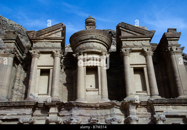 Top Part of The Monastery in Petra - Stock Image