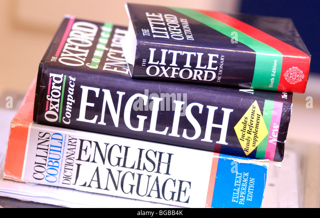 Photograph of dictionary dictionaries English language learning - Stock-Bilder