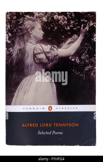 The front cover of Selected Poems by Alfred Lord Tennyson photographed against a white background. - Stock Image