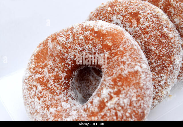 Tasty donuts in the carton box - Stock Image