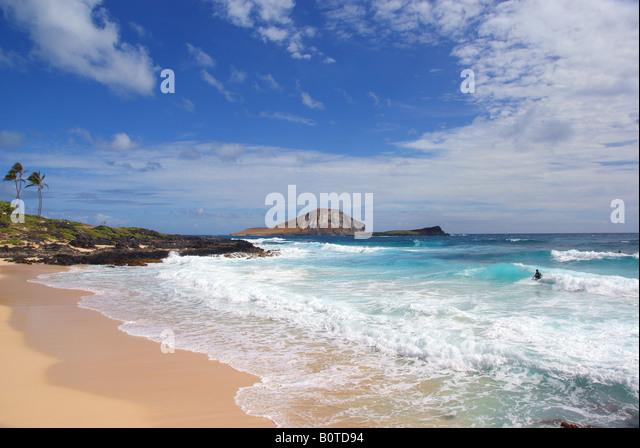 makapuu beach - Stock Image