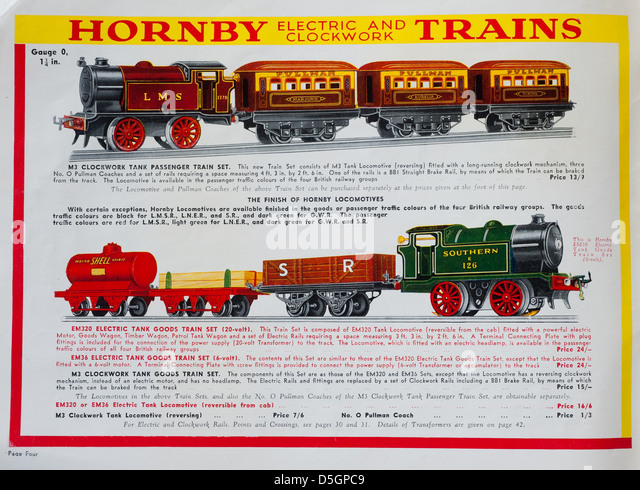 Hornby Electric And Clockwork Trains Catalogue - Stock Image