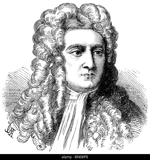 Portrait of Sir Isaac Newton - Stock Image