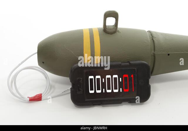 Improvised explosive device, time bomb IED - Stock Image