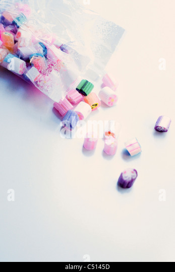 Bag of rock candies - Stock-Bilder