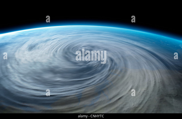 Hurricane on planet earth - Stock Image