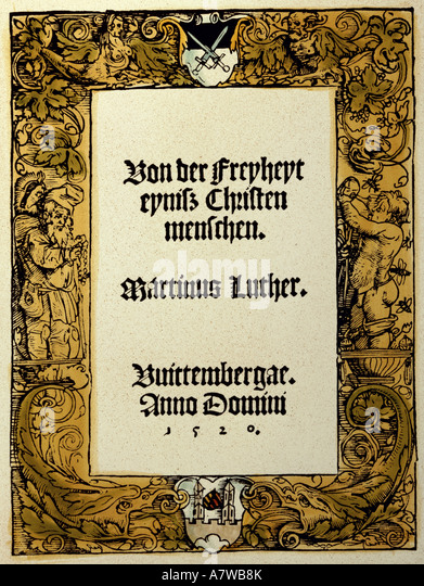 an introduction to the on the freedom of a christian by martin luther On the freedom of a christian (latin: de libertate christiana german: von der freiheit eines christenmenschen), sometimes also called a treatise on christian liberty (november 1520), was the third of martin luther's major reforming treatises of 1520, appearing after his address to the christian nobility of the german nation (august 1520) and the work prelude on the babylonian captivity of the church (october 1520.