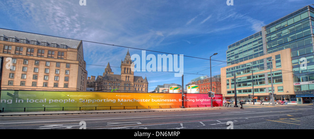 Moseley St Manchester location of new tram corridor England UK - Stock Image
