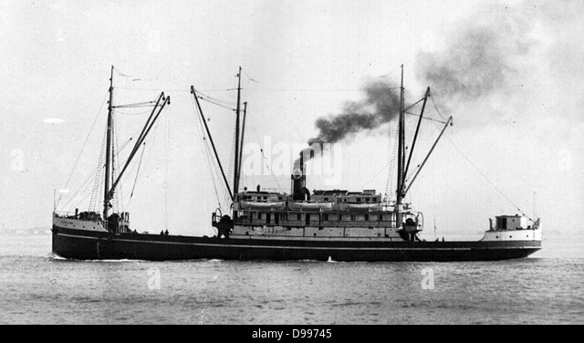 early twentieth century American steam ship - Stock Image