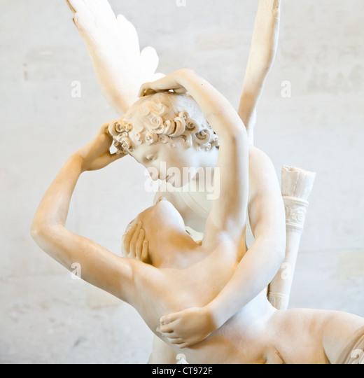 Eros embrace Psyche - Stock-Bilder