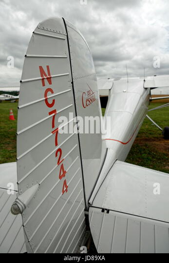 1946 Cessna 120, single engine, two seat aircraft. - Stock Image