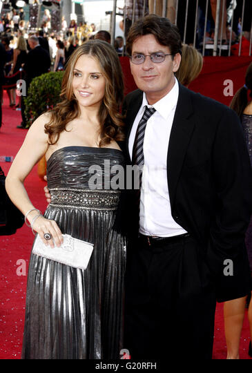 Charlie Sheen at the 60th Primetime EMMY Awards held at the Nokia Theater in Los Angeles, California, United States - Stock-Bilder