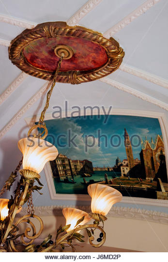 Miami Florida Miami Lakes Main Street Italy Today Restaurant ceiling detail - Stock Image