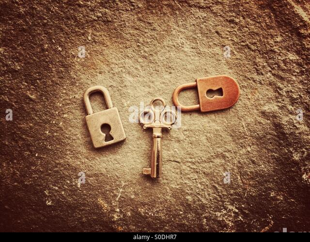 Locks and key - Stock Image