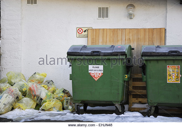 bin liners and dustbins - Stock Image