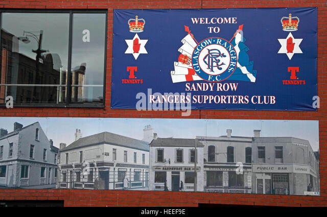 Belfast Unionist, Loyalist Sandy Row, Rangers FC Supporters Club - Stock Image