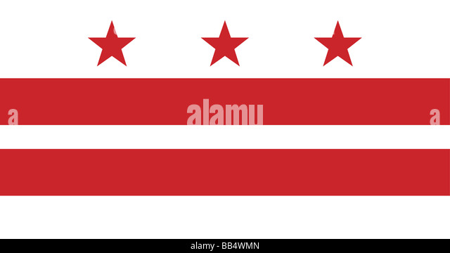 flag of the District of Columbia, Washington, D.C. - Stock Image