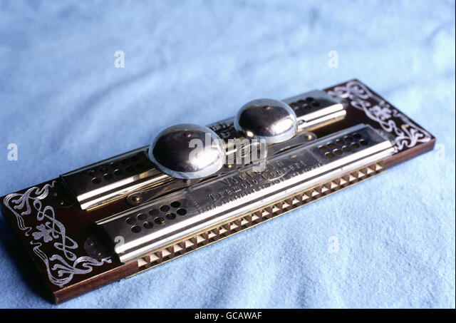 Historical tremolo harmonica 'Victoria' by Hohner - Stock Image