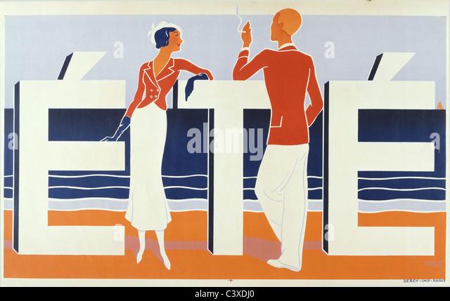 Été, by M. Caddy. 1925 - Stock-Bilder