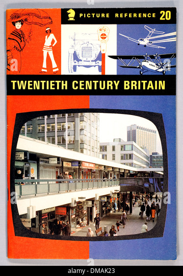 Vintage Classic Illustration Twentieth Century Britain Historical Archival Document - Stock Image