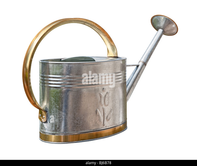 Antique Watering Can isolated on white - Stock-Bilder