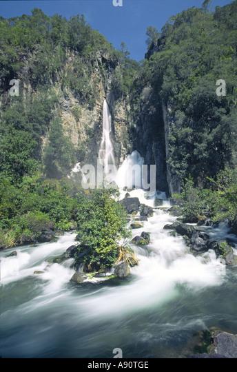 new zealand waterfall - Stock Image