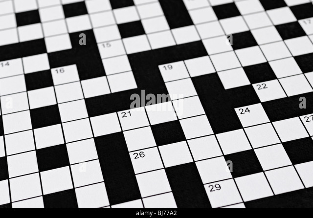 Crossword - Stock-Bilder