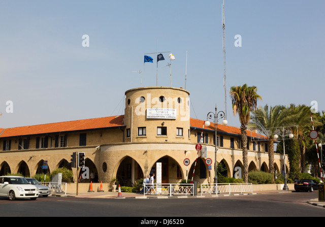 Police Station, Larnaca, Cyprus. - Stock Image