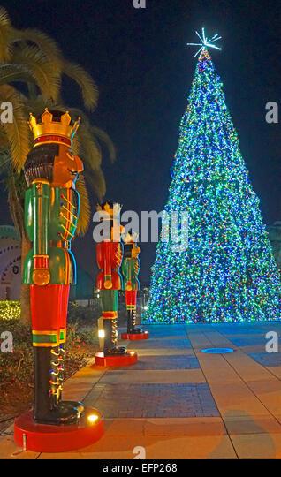 Christmas decoration in downtown Orlando, Florida. - Stock Image