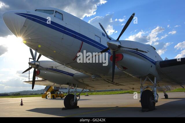 Basler BT-67, former DC-3 - Stock Image