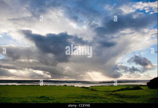 View over the Moy estuary, County Sligo, Ireland. - Stock-Bilder