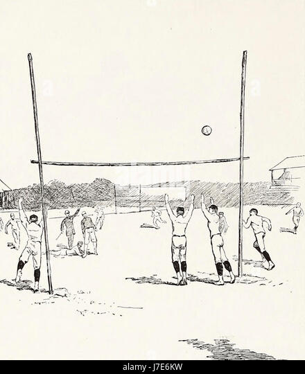 A Field Goal - American Football, 1887 - Stock Image