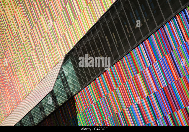 Abstract architecture of the Museum Brandhorst, Munich, Germany - Stock Image