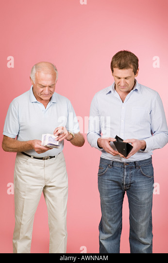 Rich and poor man - Stock Image