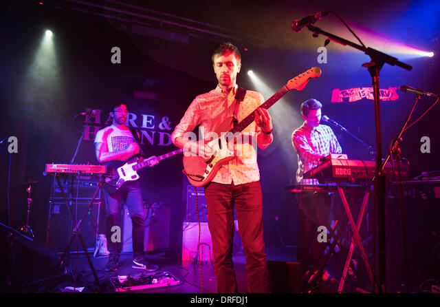 Birmingham, UK. 23rd January 2014. British rock band Teleman perform a gig at The Hare & Hounds, King's - Stock Image