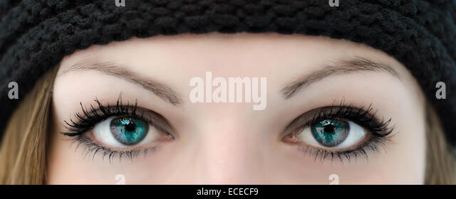 Close-up of a woman's eyes - Stock Image