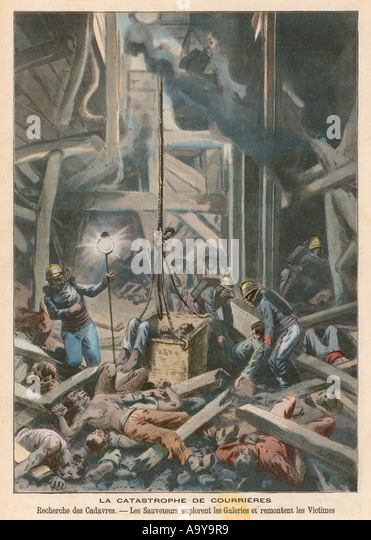 Courrieres Disaster 1906 - Stock-Bilder