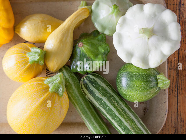 Farm fresh summer squash - Stock Image