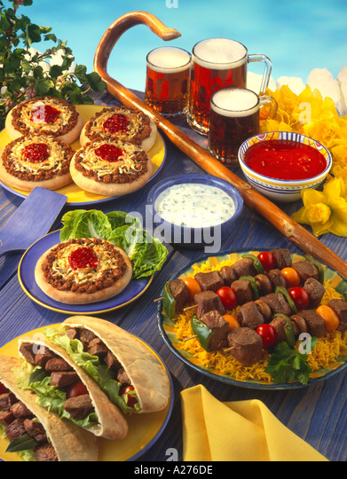 INTERNATIONAL FOODS - Stock Image