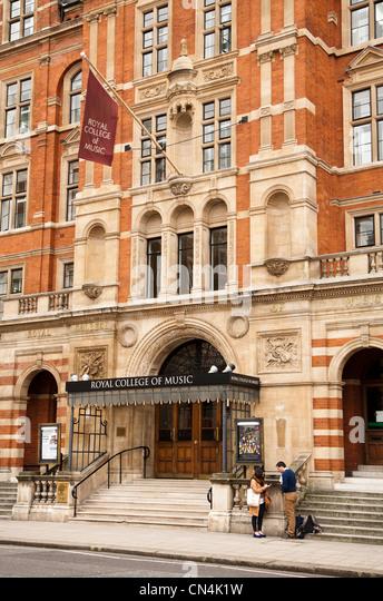 The Royal College of Music in Kensington London Britain - Stock-Bilder