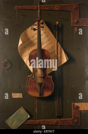 Still life with violin. - Stock Image