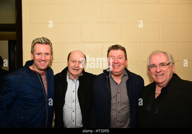 Mike Denver, Sean Wallace, Raymond Stewart and Host and Radio star Hugo Duncan. Credit: Mark Winter/Alamy Live News - Stock Image