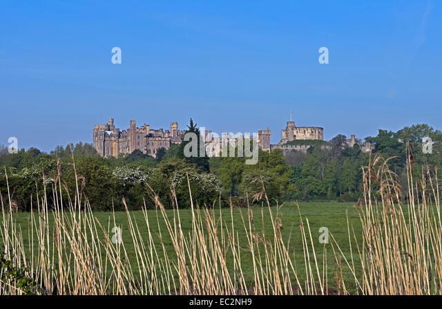 A Landscape View of Arundel Castle, West Sussex, England, Uk. - Stock-Bilder