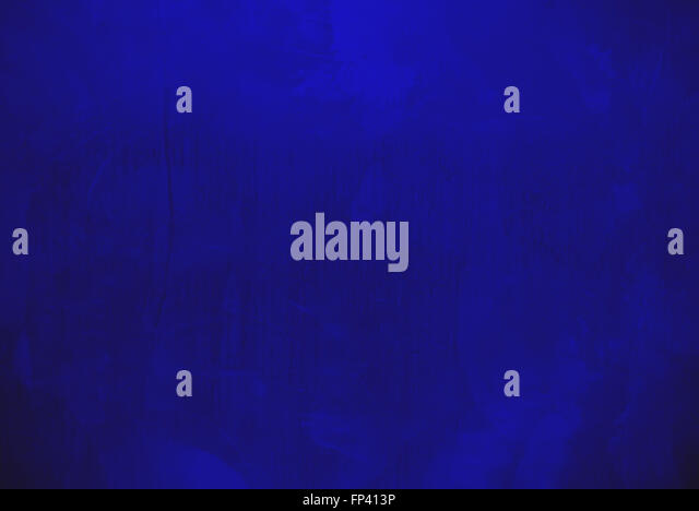 Blue plaster wall surface - Stock Image